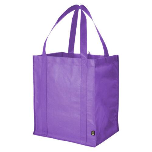 10 PACK Reusable Grocery Tote Shopping Bag Reinforced Base Non Woven Shopper UK