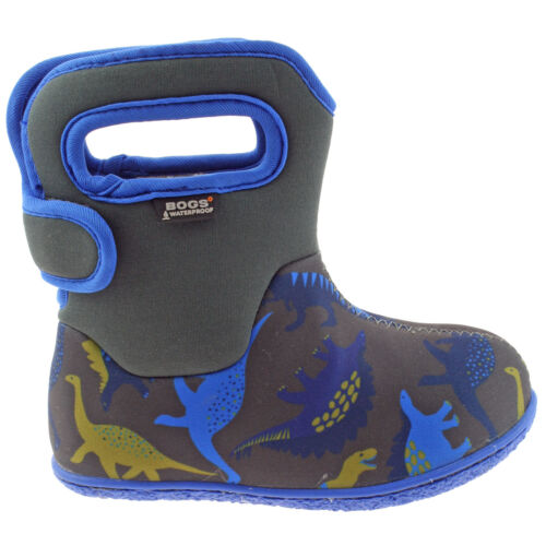 BOYS BABY BOGS DINO DARK GREY INSULATED WASHABLE WARM WELLIES BOOTS 721651