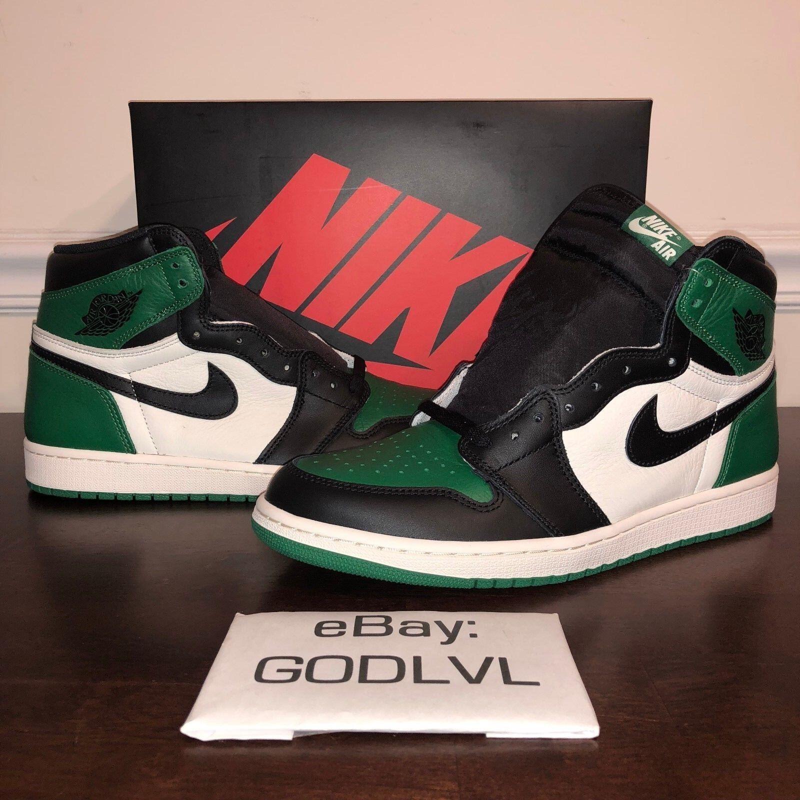 Air Jordan Retro 1 OG High Pine Green 555088-302 Size 11 11.5 12