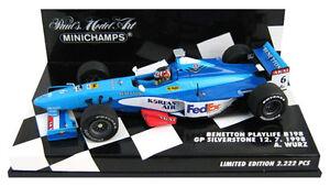 Minichamps Benetton B198 British Gp Silverstone 1998 - Alexander Wurz Echelle 1/43 4012138026940