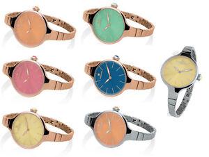 Orologio-Donna-Hoops-Cherie-Oro-Rosa-Acciaio-Giallo-Verde-Corallo-Blu