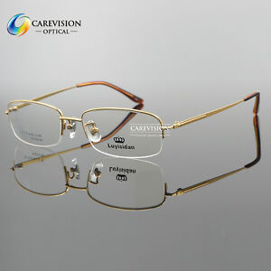 62ed83f811c New Titanium Designer Men s Half Rimless Eyeglasses Frames Optical ...