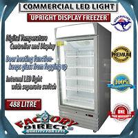 488 Litre Led Light Commercial Restaurant Upright Display Freezer Rrp-$3499
