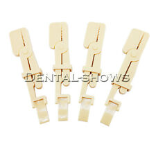 10pcs Yellow Autoclavable Dental X Ray Film Holder Snap A Ray Plastic Clip