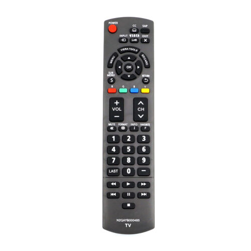 New N2QAYB000485 Remote Control for Panasonic TV TC-42LD24 TH-32LRU5 TH-50PC77U