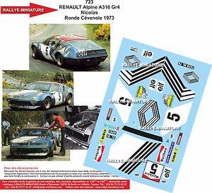 Decals 1//32 ref 798 renault 17 gordini nicolas round cevenole 1973 rally rally
