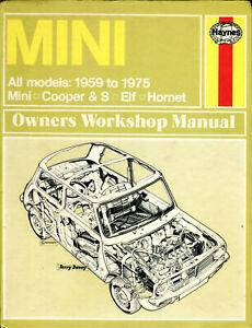 Mini-amp-Cooper-S-Riley-Elf-Wolseley-Hornet-1959-1975-Haynes-workshop-manual