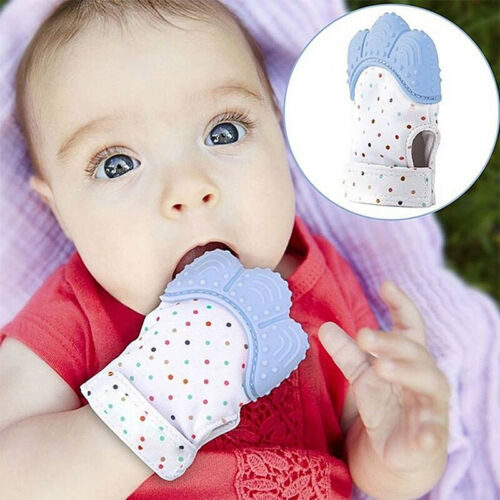 Baby Newborn Teething Silicone Mittens Gloves Teether Anti Scratch Dental Care