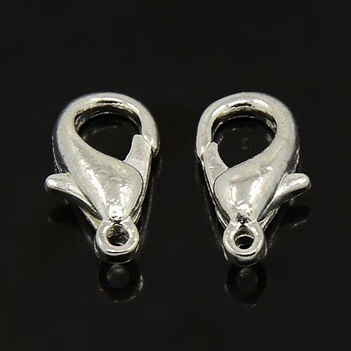 100PCS Alloy Lobster Claw Clasps Keyring Jewelly Making Accessories Silver Color