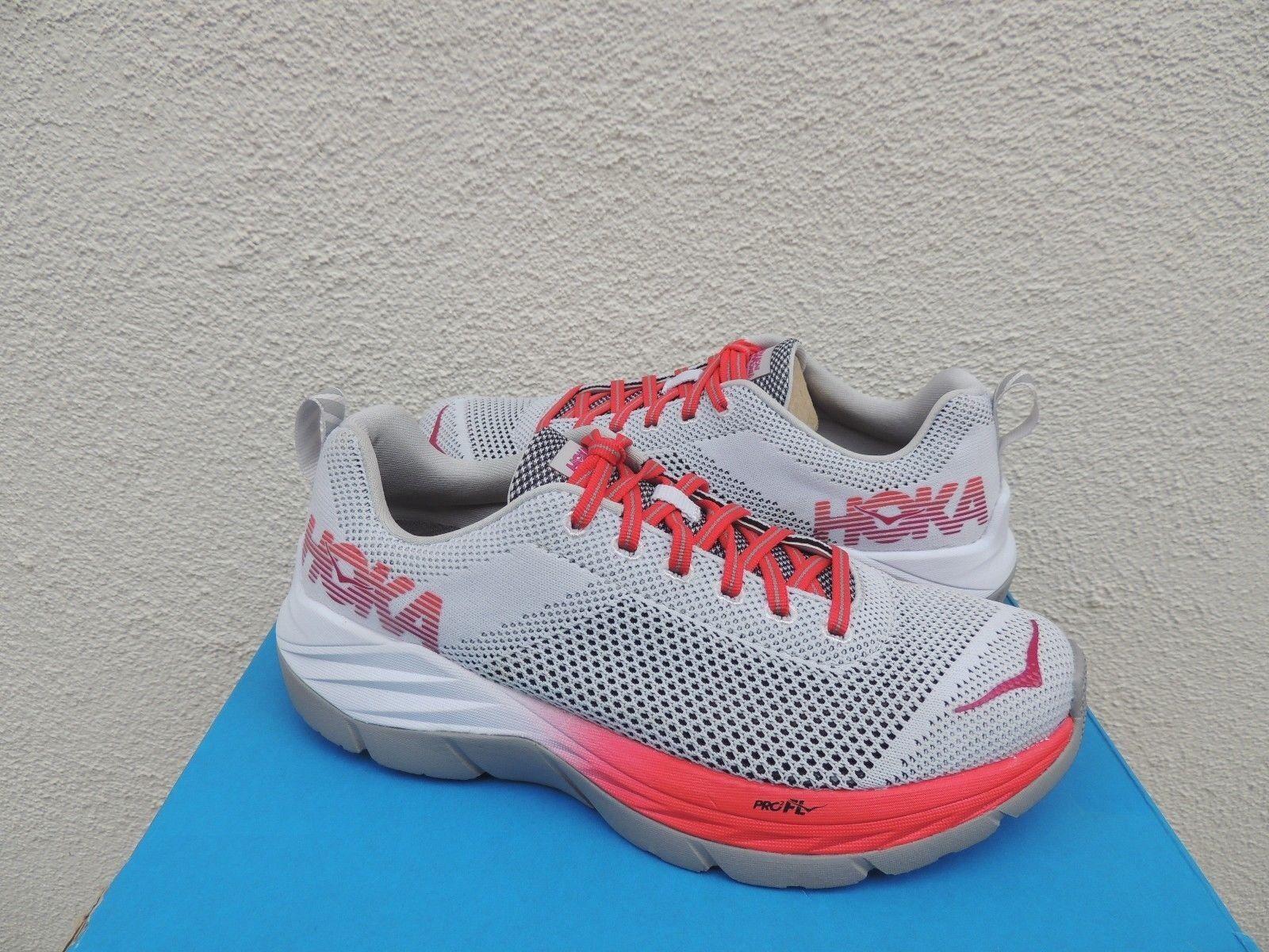 HOKA ONE ONE MACH Weiß/ HIBISCUS RUNNING Schuhe, Damens US NEW 7/ EUR 38 2/3 NEW US 417069