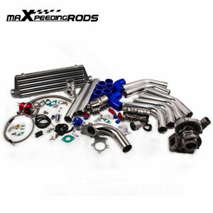 T3-T4-T3-T4-T04E-Universal-Turbo-charger-Kit-Wastegate-Intercooler-Piping-25PC
