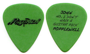 POISON-Guitar-Pick-2007-Poison-039-d-Tour-John-Popplewell-stage-manager-green