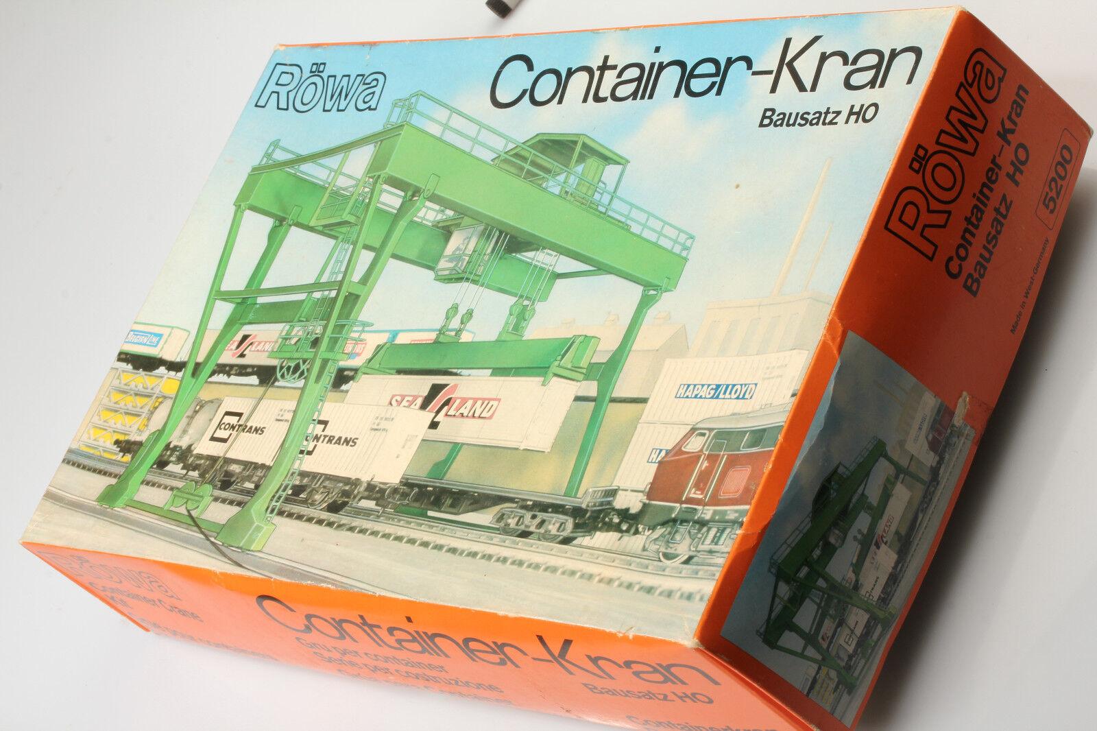 H0 Röwa 5200 Nikolaus-Rarität Container Gru Kit di Costruzione Sporco/Difetti