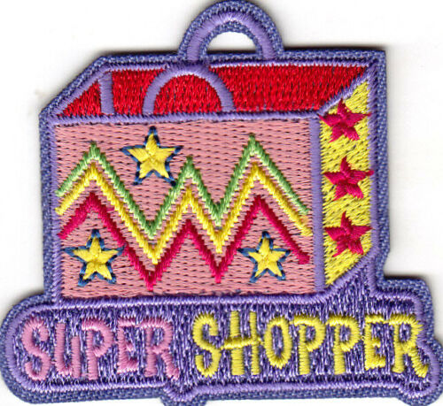 "/""SUPER SHOPPER/"" Iron On Patch Shopping Mall"