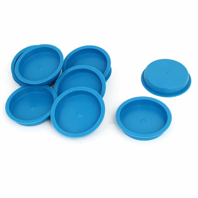 75mm Flange Mounted Tapered Hole Stoppers Waterproof Caps Blue 10pcs