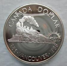 1986 CANADA VANCOUVER CENTENNIAL PROOF SILVER DOLLAR COIN