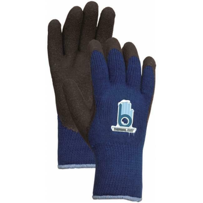 Atlas Glove Large Blue Thermal Knit Gloves With Rubber Palm C4005L