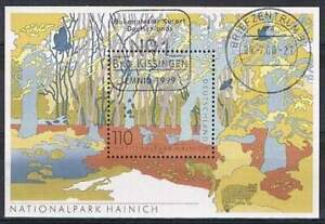 Duitsland-Bund-gestempeld-2000-used-block-52-Nationalpark-Hainich-3