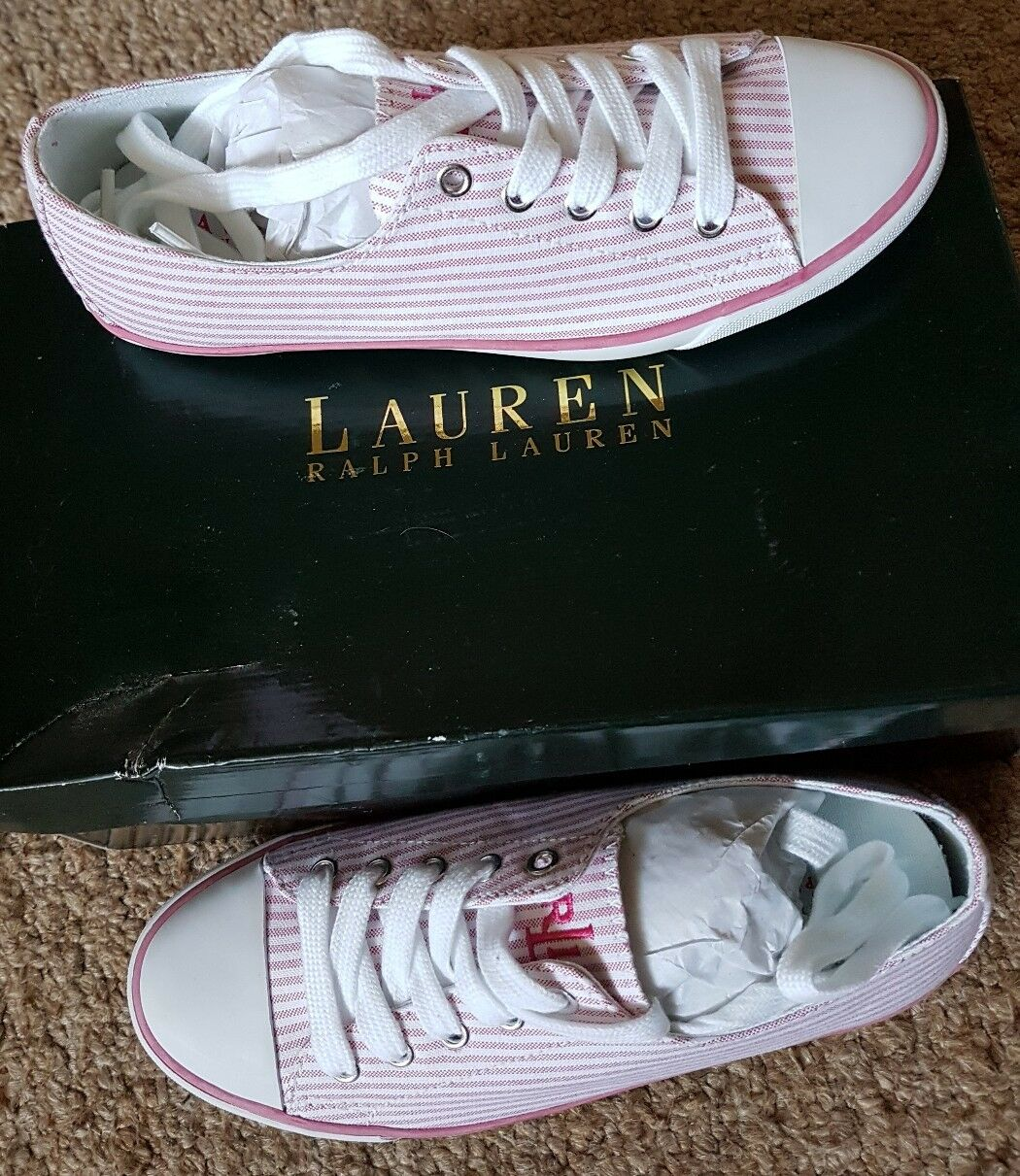 BNWB LAUREN OXFORD RALPH LAUREN POLLY-NE GERANIUM OXFORD LAUREN CLOTH-ST  TRAINERS SIZE UK 2.5 178b7e