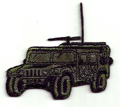 MILITARY JEEP HUMMER IRON ON APPLIQUE PATCH