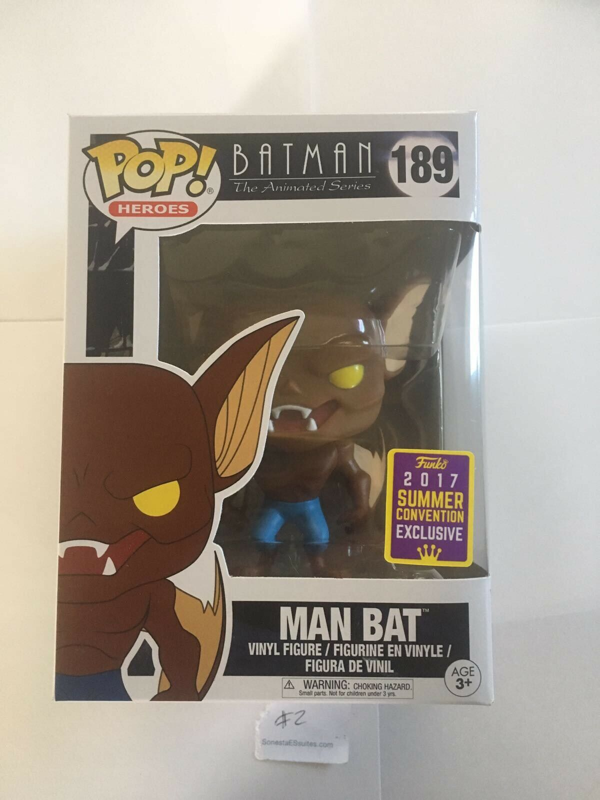 FUNKO POP MAN BAT SDCC 2017 SUMMER EXCLUSIVE BATMAN THE ANIMATED SERIES LIMITED