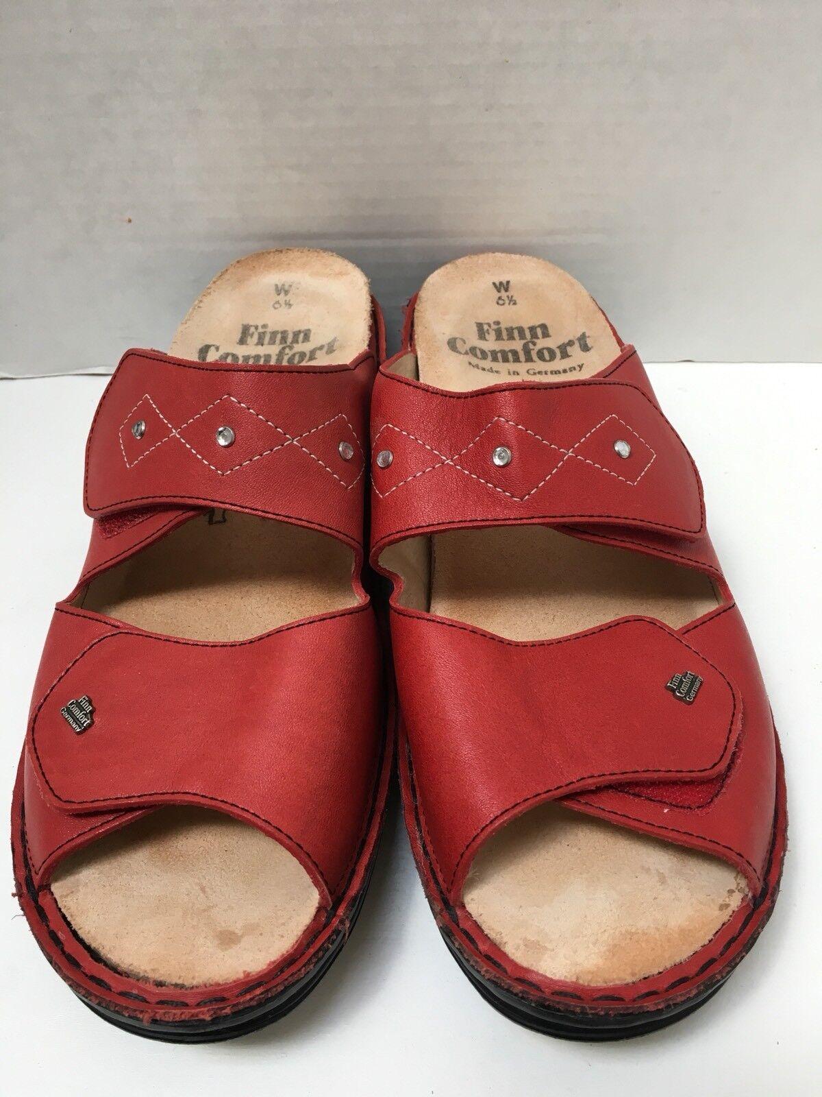 Finn Comfort Sandalias Mujer Cuero Rojo Rhinestones 6.5W 6.5W 6.5W encantador  Precio al por mayor y calidad confiable.