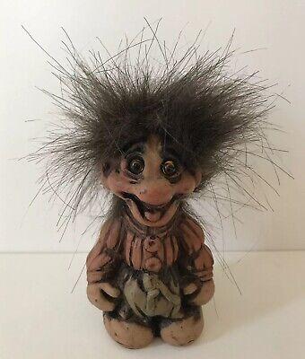Fosse Troll Rara Figura, Arte N. 120, Senza Etichetta, Made In Norvegia, Eccentrico-mostra Il Titolo Originale
