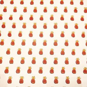 Image Is Loading Vintage Wallpaper Red And Gold Pineapple By Motif