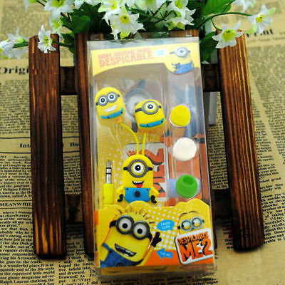 Despicable Me 2 3.5mm Headphones Minions Universal Earphones iPod iPhone Samsung