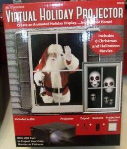 Mr. Christmas Virtual Holiday Projector Animated Window 4 Christmas -4 Halloween