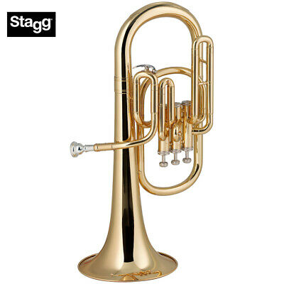 New Stagg Ws-ah235 Pro Series Key Of Eb 3 Valves Alto Horn With Abs Case Refreshing And Beneficial To The Eyes Brass