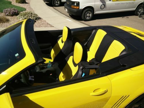 Chevy Camaro Convertible 5 Genuine Neoprene Front Coverking Yellow Seat Covers