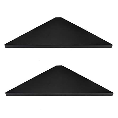Evron Corner Mounting Shelf,Easy to Install Wall Corner Shelf,Set of 2 Black..