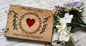 Personalised-Wooden-Engraved-Wedding-Reception-Guestbook-Rustic-Guestbook