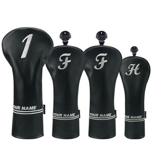 New-Black-Personalized-Golf-Headcover-Driver-Custom-Head-Covers-Fairway-Hybrids