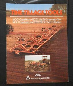 """1982 ALLIS-CHALMERS """"1200 1300 1400 1500 1600 CHISEL PLOWS CULTIVATORS"""" BROCHURE"""