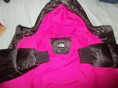 The North Face Gotham Goose Down Parka TNF Coat Bomber Jacket Soft Espresso Pink | eBay