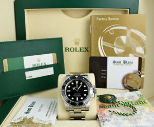 ROLEX - 2016 40mm Stainless Steel Submariner Black Dial CARD 114060 - SANT BLANC