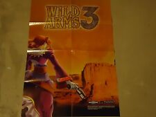 Wild Arms 3 Playstation 2 PS2 Foldable Promo Poster Insert ONLY