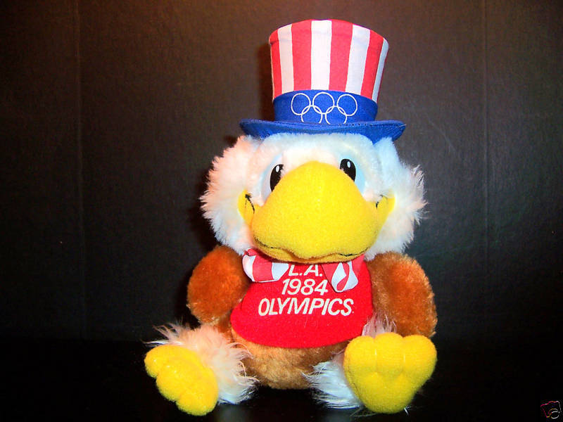 1984 L.A. Olympics Sam Eagle Plush Official Stuffed Toy
