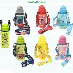 PréCis Étanche Disney Tritan Bpa Free Bouteille D'eau 2-pailles + Bandoulière Kids Baby-afficher Le Titre D'origine Une Grande VariéTé De ModèLes