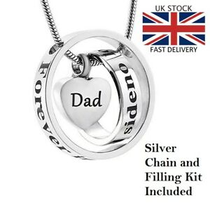 Dad-Rings-Heart-Keepsake-Cremation-Urn-Pendant-Ashes-Necklace-Funeral-Memorial