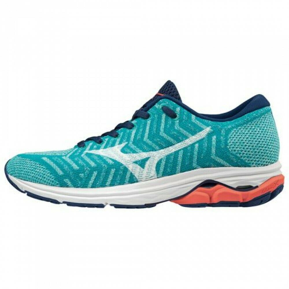 Mizuno Women Running shoes WAVEKNIT R2 J1GD1829 Turquoise x White x Coral
