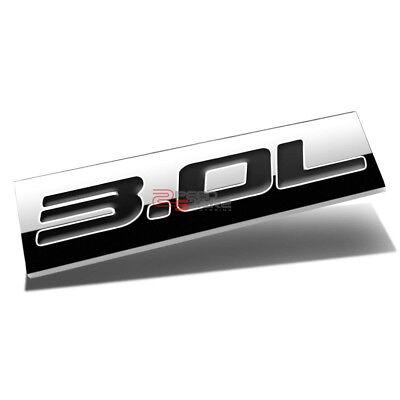 POLISHED CHROME SLT FENDER CAR METAL EMBLEM DECAL LOGO TRIM BADGE 3M ADHESIVE