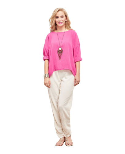 Oh My Gauze Abby Blouse Long Sleeve Tunic Top 100/% Cotton Lagenlook