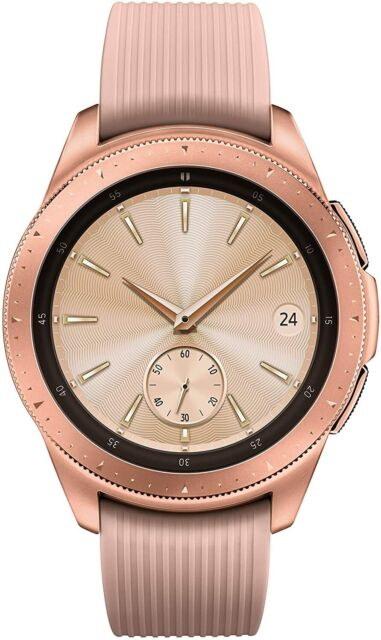 Samsung Galaxy Smart Watch 42mm Rose Gold Stainless Steel Case Fitness Tracker