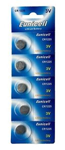 In Zielstrebig 100 X Cr1225 3v Lithium Knopfzelle 50 Mah 20 Blistercard A 5 Batterien QualitäT eunicell Ausgezeichnete