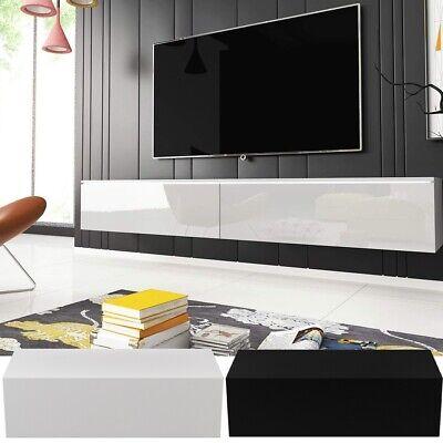 TV Board Lowboard Hängend Wohnwand Fernsehschrank Hochglanz Schrank Wohnzimmer