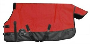 Showman-RED-PONY-amp-YEARLING-Size-48-034-54-034-Waterproof-Breathable-Turnout-Blanket