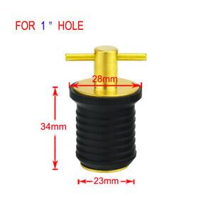 Brass Rubber 1inch Twist Turn Boat Drain Plug Heavy Duty Boat Hardware
